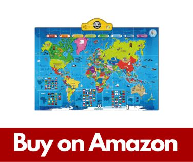 Interactive Talking World Map for Kids TG661