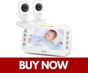 Axvue Video Baby Monitor with Two Cameras and Wide Screen