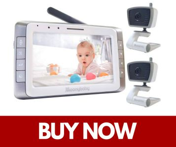 Moonybaby Video Baby Monitor with 2 Cameras with Auto Night Vision