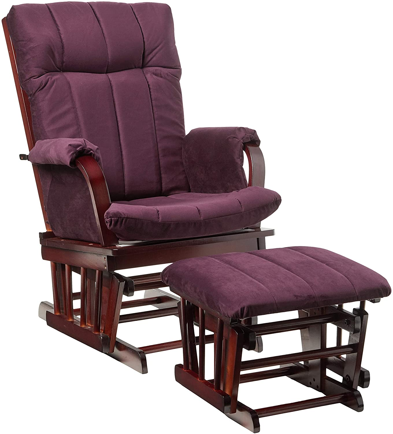 Artiva USA AF20203 – PUR Home Deluxe Microfiber Cherry Wood Glider